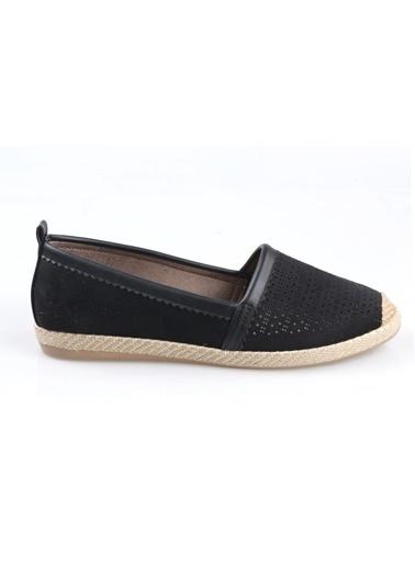 Subaşı Siyah Süet Bayan Günlük Ayakkabı Siyah